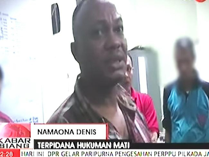 Using false name ... Namaona Denis before he was executed in Indonesia. Picture: YouTube