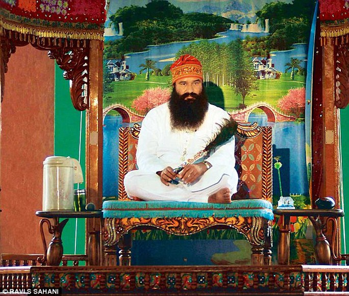 Guru in bling: Gurmeet Ram Rahim is being probed by Indias Central Bureau of Investigation after a former follower alleged he ordered 400 men to submit to castrations he said would bring them closer to god