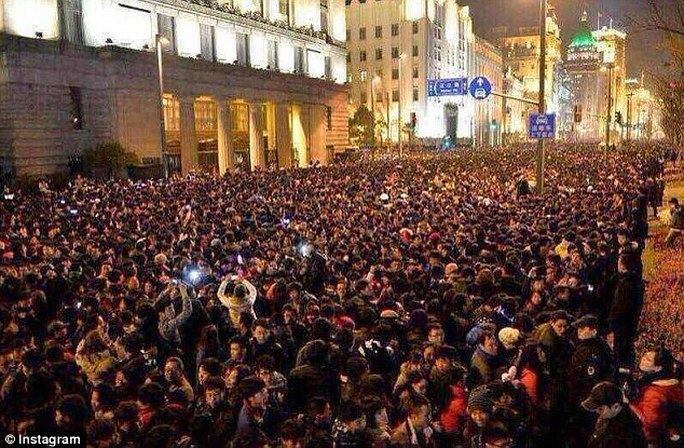 A stampede happens during a New Year celebrations in the bund area in east Chinas Shanghai early Thursday morning local time