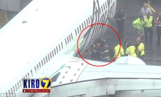 This is the moment an Alaska Airlines baggage handler was pulled from the cargo hold after falling asleep