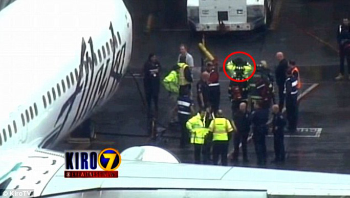 Alaska Airlines is investigating how the man managed to fall asleep before the LA-bound flight took off