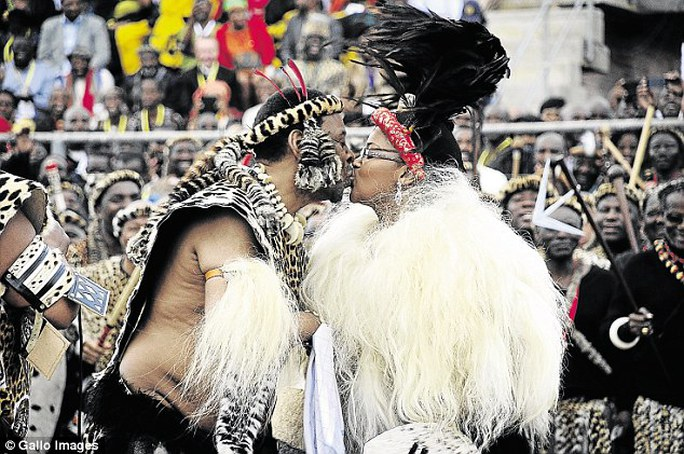 Nuptials: His wedding to sixth wife Zola Mafu (pictured) in July cost an estimated R4million, or about £250,000