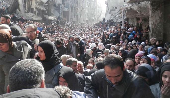 Al-Yarmouk camp, south of Damascus on January 31, 2014.
