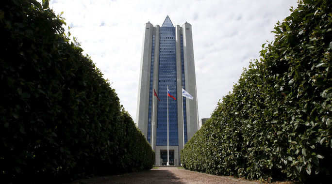 A general view shows the headquarters of Gazprom company in Moscow, Russia. © Sergei Karpukhin