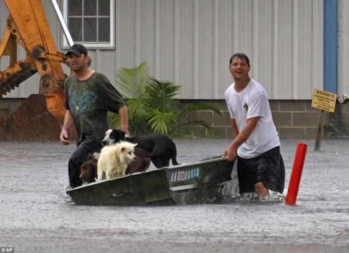 Hình ảnh từ cơn bão Isaac năm 2012 tại Waveland, Mississippi - Mỹ. Ảnh: AP