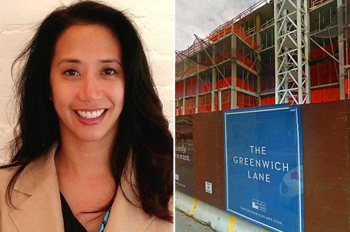 Đi ngang qua khu công trường tại Manhattan, Mỹ, cô gái gốc Việt Nguyễn Thùy Trang bị một tấm gỗ từ tòa nhà cao tầng rơi trúng. Ảnh: Metro