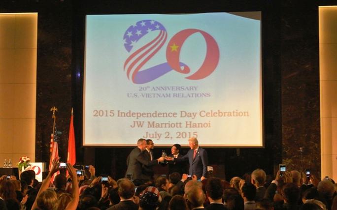 Chúc mừng kỷ niệm 20 năm bình thường hóa quan hệ Việt Nam - Mỹ