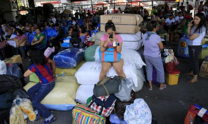 Người dân Philippines thường xuyên phải đối phó với bão mạnh. Ảnh: Reuters