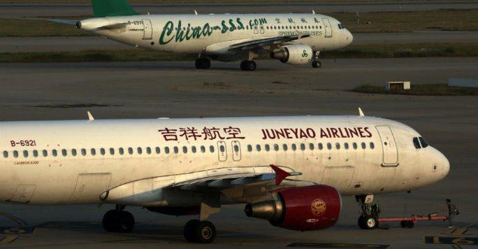Hãng hàng không giá rẻ Juneyao. Ảnh: Bloomberg