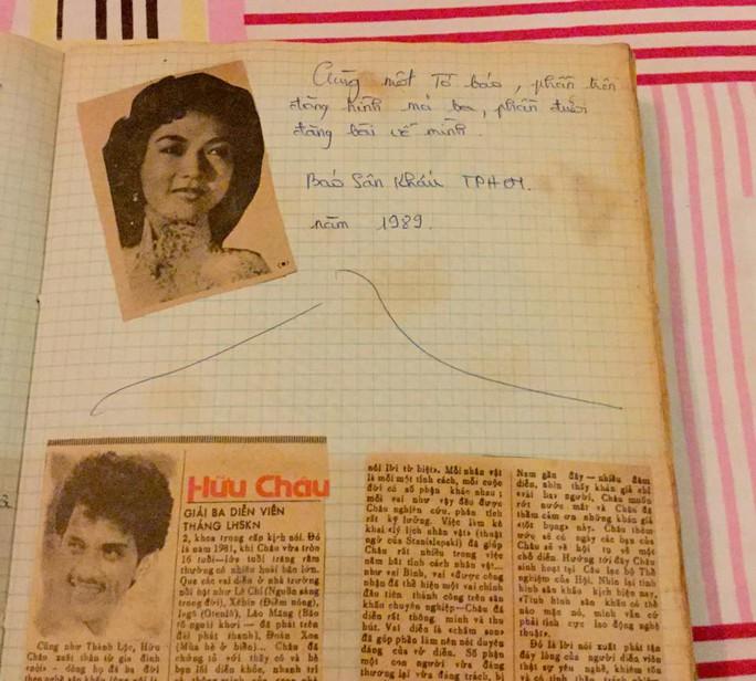 Những bài báo cũ trong cuốn sổ của Hữu Châu