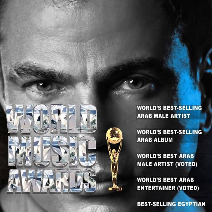 Ca sĩ Amr Diab của Ai Cập đoạt tới 4 giải trong lãnh thổ