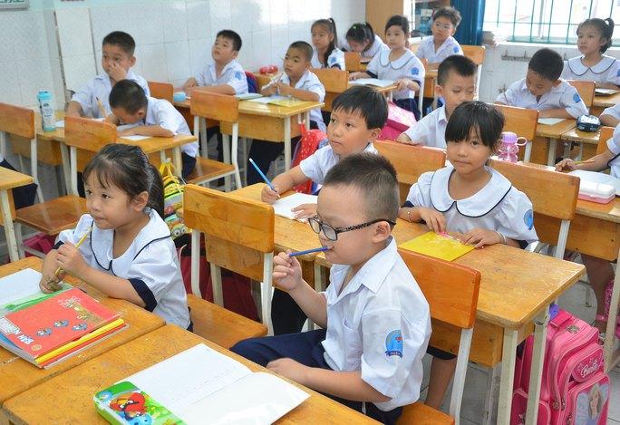 Học sinh tiểu học sẽ được học các môn độc lập và các môn tích hợp Ảnh: TẤN THẠNH