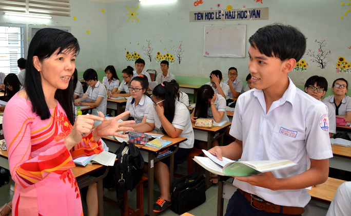Học sinh Trường THPT Nguyễn Trãi, TP HCM chuẩn bị kỳ thi tốt nghiệp  Ảnh: TẤN THẠNH