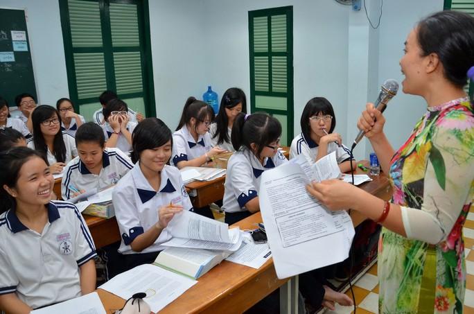 Học sinh Trường THPT chuyên Trần Đại Nghĩa trong giờ học.Ảnh: TẤN THẠNH