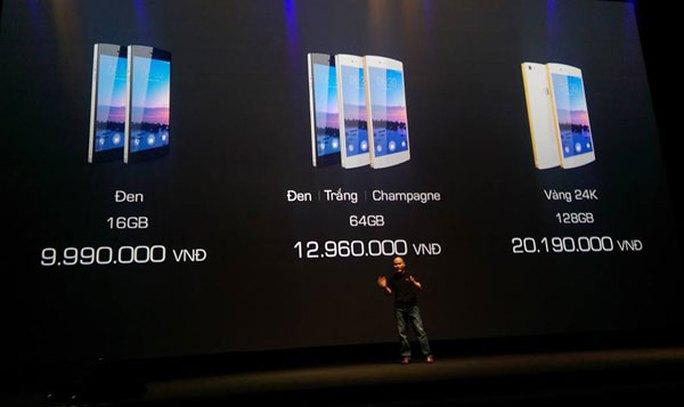 Giá bán chính thức của các phiên bản Bphone