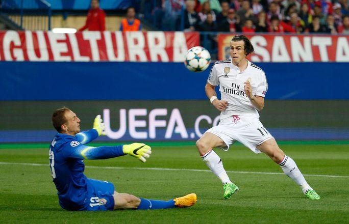 Bale bỏ lỡ cơ hội tốt nhất để mở tỉ số cho Real MadridẢnh: REUTERS