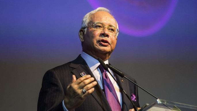 Thủ tướng Malaysia Najib Razak. Ảnh: Bloomberg