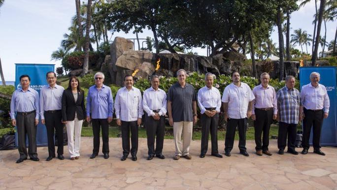 Bộ trưởng thương mại 12 nước tham gia vòng đàm TPP. Ảnh: Reuters