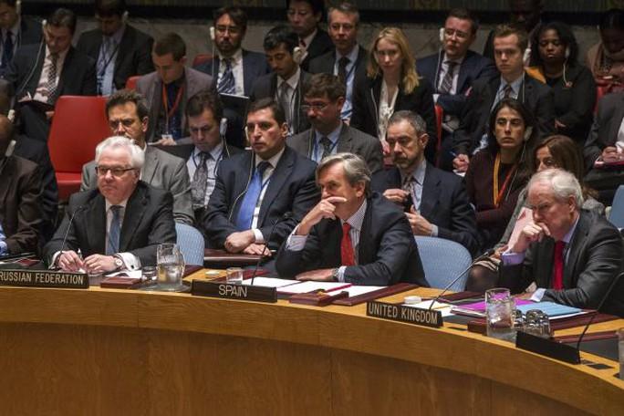 Nga bỏ phiếu trắng đối với nghị quyết cấm vận vũ khí Houthi trong phiên họp ngày 14-4. Ảnh: Reuters