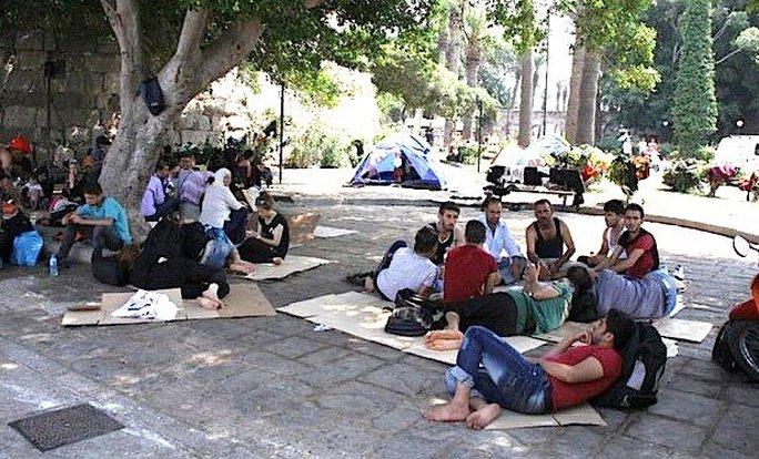 Người di cư trên đảo Kos - Hy Lạp Ảnh: GREEK REPORTER