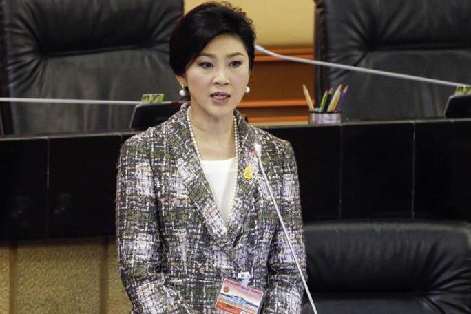 Cựu Thủ tướng Yingluck Shinawatra tại phiên luận tội ở Hội đồng Lập pháp quốc gia hôm 22-1. Ảnh: Reuters