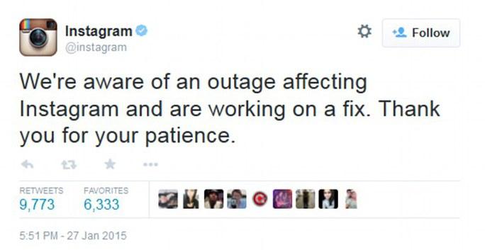Phát ngôn viên Instagram xin lỗi về sự cố. Ảnh: Daily Mail
