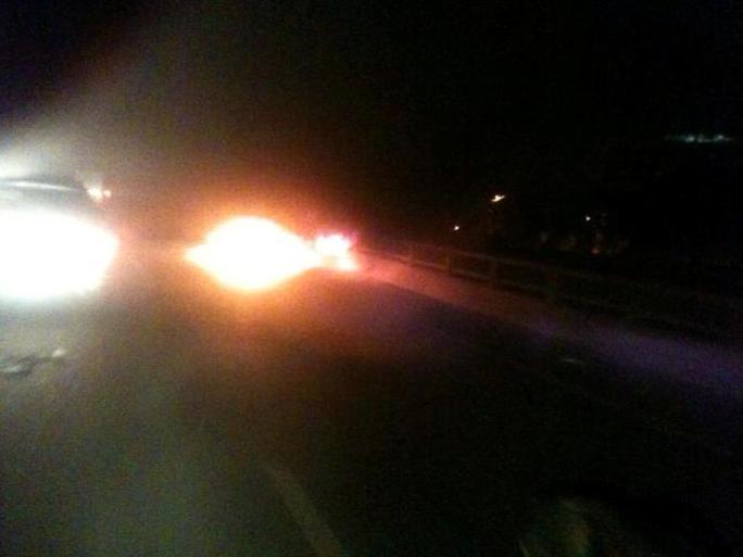 Hiện trường ô tô cháy