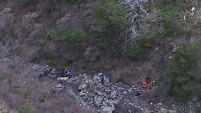 Các mảnh vỡ của Germanwings 4U9525 ở dãy Alps. Ảnh: Sydney Morning Herald
