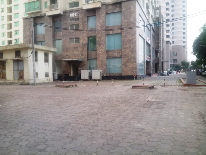 2 bể chứa của tòa nhà chung cư cao cấp khu đô thị Dịch Vọng (Cầu Giấy)