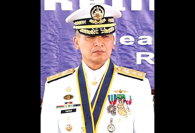 Tân Tư lệnh Hải quân Philippines Caesar Taccad. Ảnh: Reuters