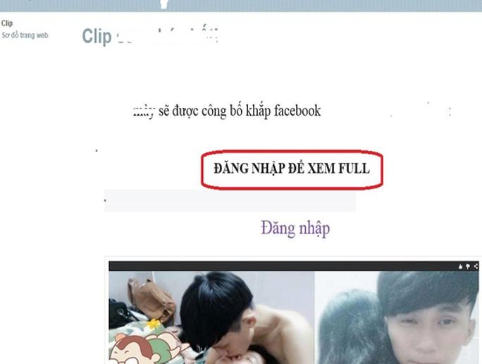 Rộ chiêu dụ xem clip sex lừa chiếm tài khoản Facebook