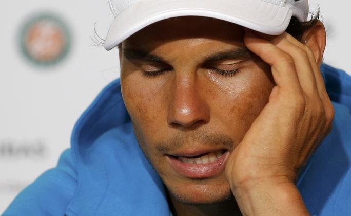 Nadal trong cuộc họp báo sau trận