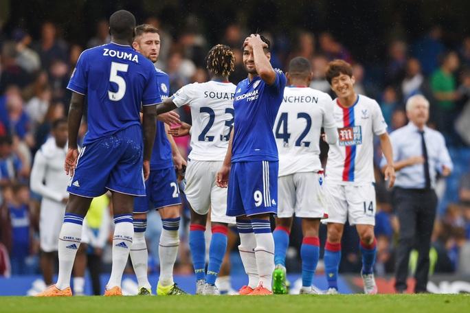 Tân binh Falcao (9) ghi bàn nhưng Chelsea không kiếm nổi 1 điểm trước Crystal Palace