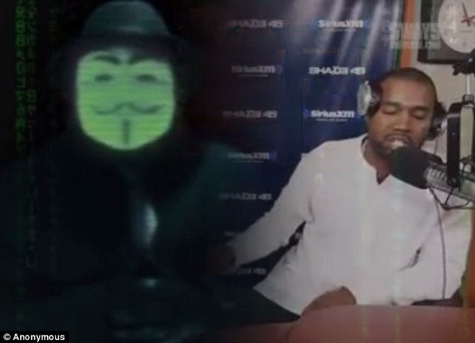 Anonymous đe dọa Kanye