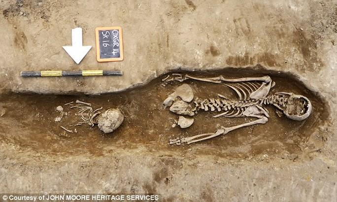 Bộ xương được chôn trong tư thế đặc biệt
