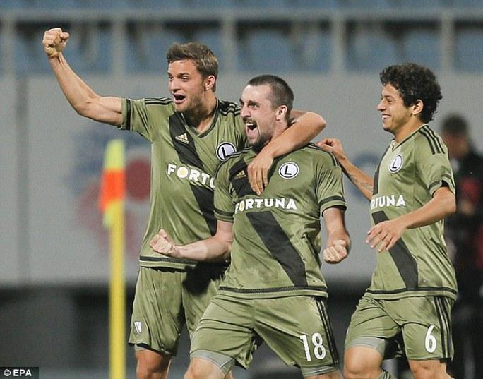 Các cầu thủ Legia Warsaw