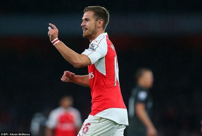 Ramsey phản ứng khi trọng tài không công nhận bàn thắng
