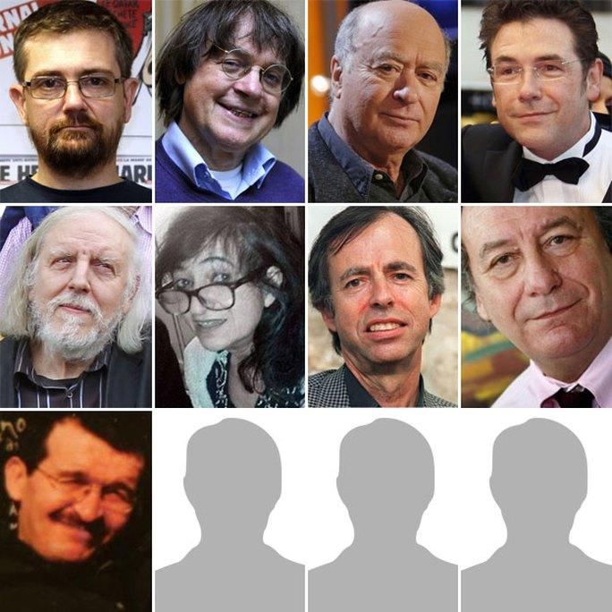 9 torng số 12 người thiệt mạng tại tòa báo Charlie Hebdo. Ảnh: BBC