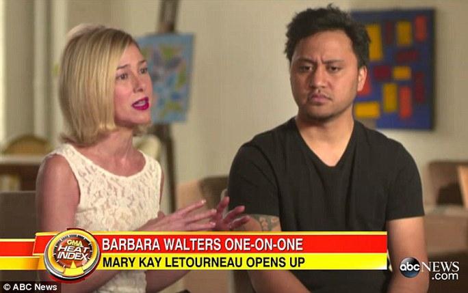 bà Mary Kay Letourneau và chồng Vili Fualaau trả lời phỏng vấn hôm 10-4. Ảnh: ABC News