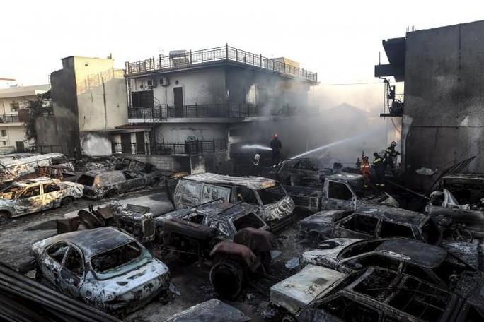 Một đám cháy ở khu vực Laconia, bán đảo Peloponnese, miền Nam Hy Lạp hôm 17-7. Ảnh: Reuters