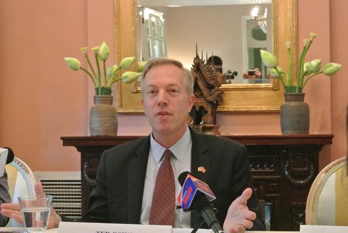 """Đại sứ Mỹ Ted Osius: """"Chuyến thăm của Tổng Bí thư Nguyễn Phú Trọng sẽ thúc đẩy hợp tác giữa hai bên lên những tầm cao mới""""Ảnh: DƯƠNG NGỌC"""