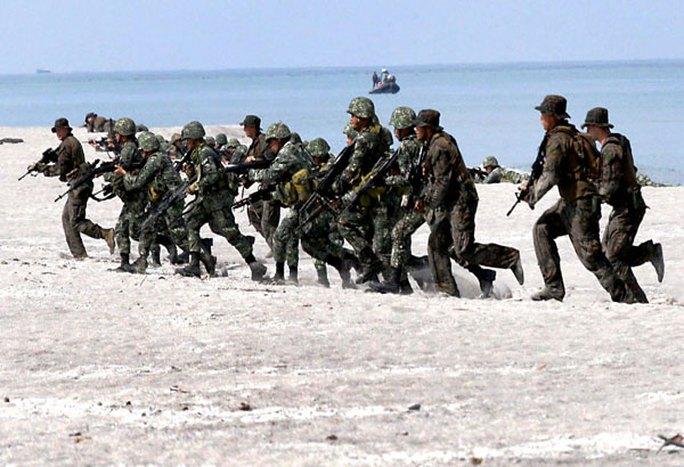 Quân đội Mỹ và Philippines tập trận năm 2014. Ảnh: Philstar