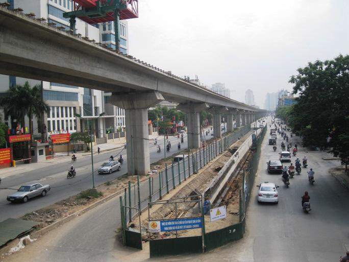 Tuyến đường sắt đô thị Cát Linh - Hà Đông Ảnh Nguyễn Hưởng