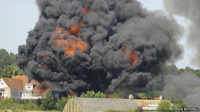 Vụ tai nạn máy bay khiến ít nhất 7 người chết. Ảnh: BBC