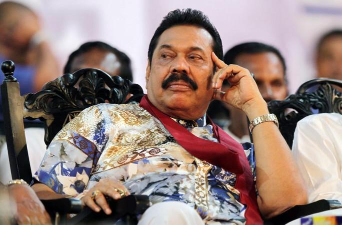 Cựu Tổng thống Mahinda Rajapaksa. Ảnh: AP