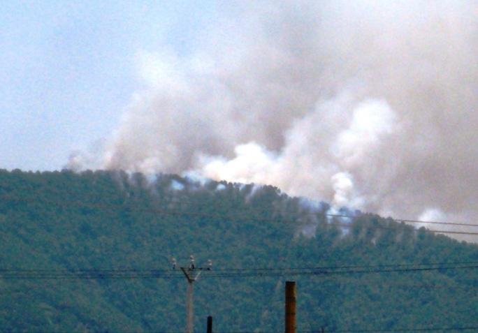 Khu vực núi Sơn Trang nơi xảy ra cháy rừng