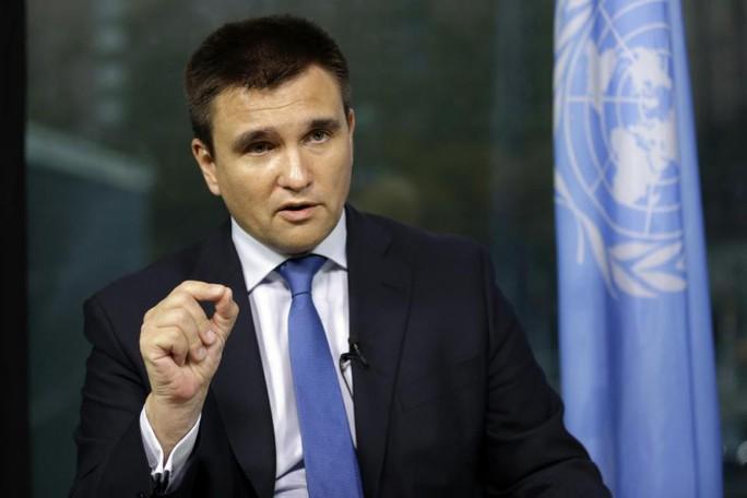 """Ngoại trưởng Ukraine Pavlo Klimkin kêu gọi Nga tiến hành """"những cuộc đàm phán nghiêm túc"""". Ảnh: AP"""