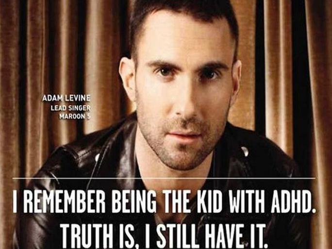 Ca sĩ Adam Levine thú nhận mình mắc chứng ADHD lúc nhỏ và cả bây giờ
