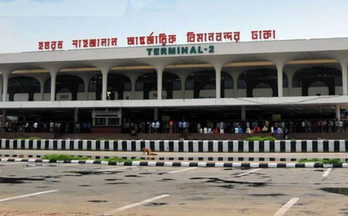 Sân bay Hazrat Shahjalal ở Dhaka, nơi thu giữ 27 kg vàng từ ông Son Young Nam. Ảnh minh họa: bdnews24.com