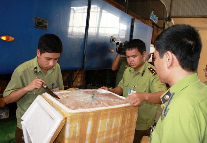 Số hàng hôi thối được Đội Quản lý thị trường số 1 - Chi cục Quản lý thị trường Ninh Bình bắt giữ